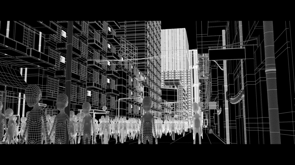 wireframe_rendering der stadt_S